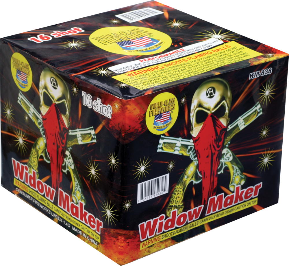 WORLD CLASS WIDOW MAKER- CASE 4/1: Dapkus Fireworks Company